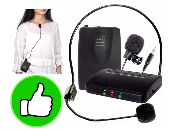 Microfone Lapela Headset Sem Fio De Cabeça Mt2201