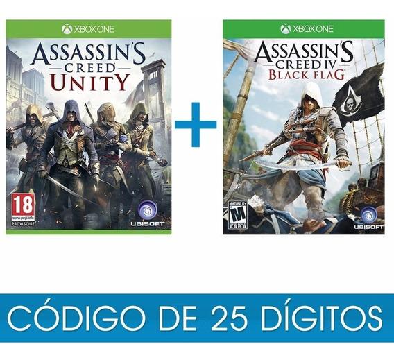 Assassins Creed Unity + Black Flag Xbox One Código Original