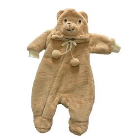 Macacão Plush Urso Marrom