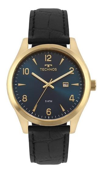 Relógio Technos Masculino Elegante Discreto Super Moderno Pulseira De Couro Ref. - 2115mrx/2a
