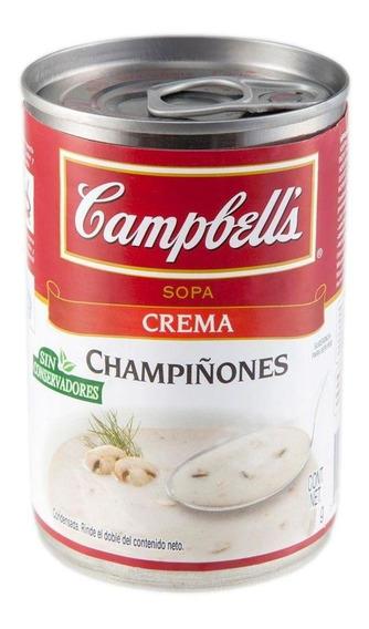 Campbell´s Crema De Champiñones Lata 420g