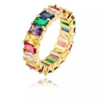 Anillo Rainbow/arcoiris De Zirconia