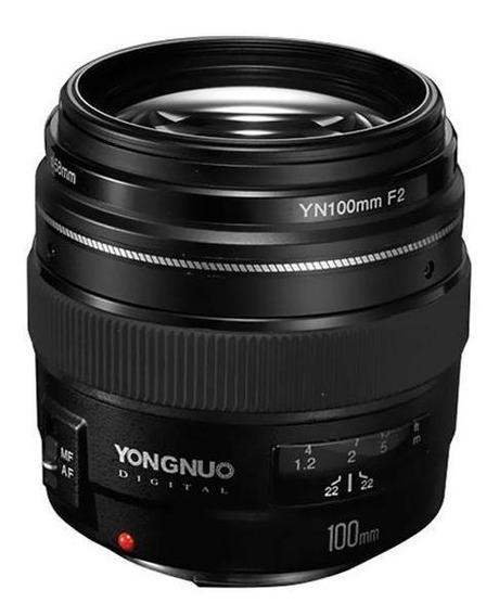 Lente Para Câmeras Canon Yongnuo Yn-100mm F2 De 58mm