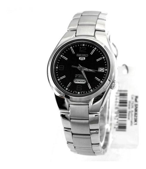 Relógio Seiko 5 Automático Pulseira Aço Snk623- K1 Original