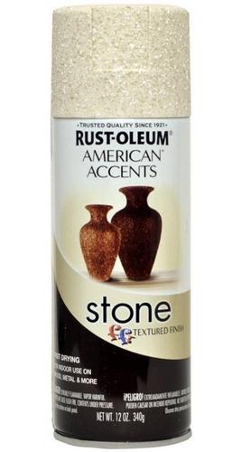 Imagen 1 de 5 de Pintura Aerosol Textura Piedra Stone Crema 340 Rust Oleum Ff
