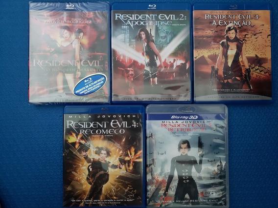 Coleção Blu-ray Resident Evil 1, 2, 3, 4 E 5