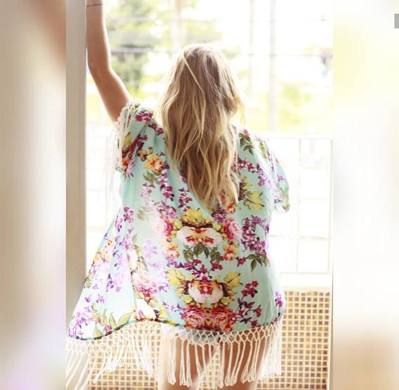 Kimono Feminino Roupas Femininas Franja