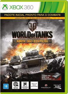 Jogo Xbox 360 World Of Tanks Midia Original
