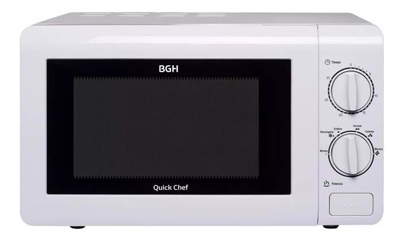 Microondas Bgh Quick Chef 20 Litros B120m16 700w Blanco