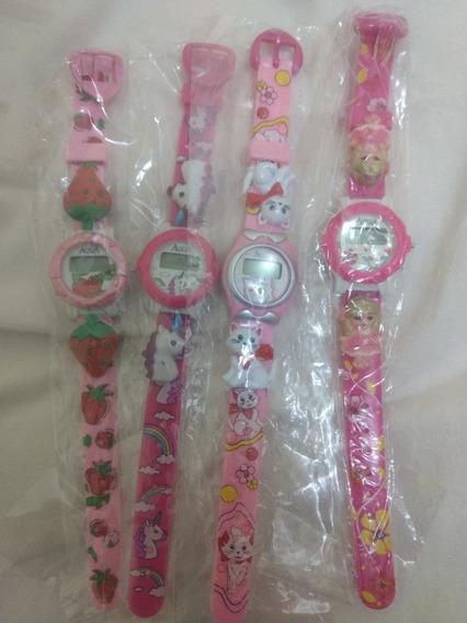 Relógio Infantil P/menina/resistente A Água/kit C/4/novo