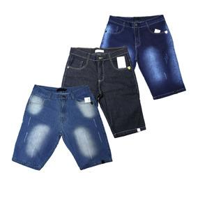 Kit 03 Bermuda Short Jeans Masculino Preço Atacado, Confira!