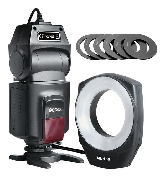 Flash Circular Macro Ringflash Godox Ml-150 Canon Nikon