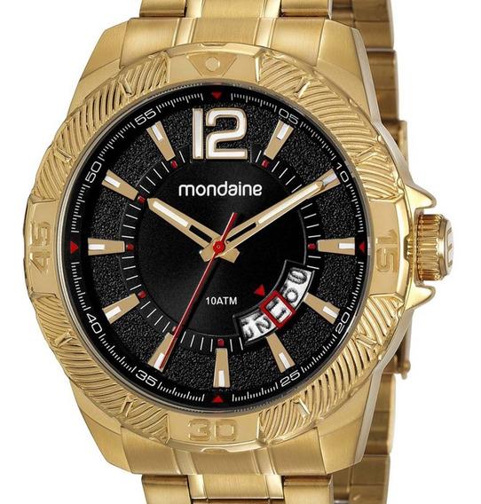 Relógio Mondaine Masculino Dourado 53706gpmvde1 Original
