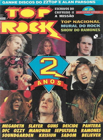 Revista Top Rock 24-slayer,yuns N Roses,ozzy,sepultura