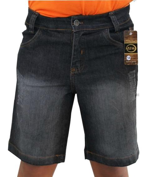 Bermudas Jeans Infantil Masculina Short Criança Menino Top