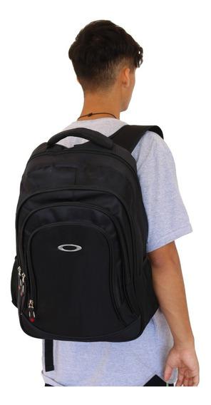 Mochila Escolar Fashion Way Oakley Espaçosa Porta Notebook