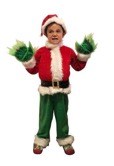 Disfraz De Grinch Santa Claus Niño Envío Gratis