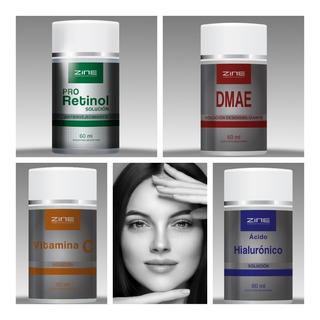 Activos Solución Zine Ac Hialurónico Dmae Vit C Pro Retinol Aptos Dermaroller