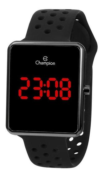 Relógio Unissex Champion Digital Led Ch40081c - Preto