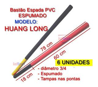 Espada Huang Long Treino Pvc Espumado - 78 Cm - Kit 12 Pçs