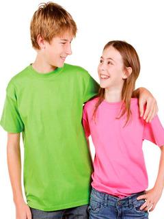Pack X3 Remeras Lisas Adolescentes -algodon-colores