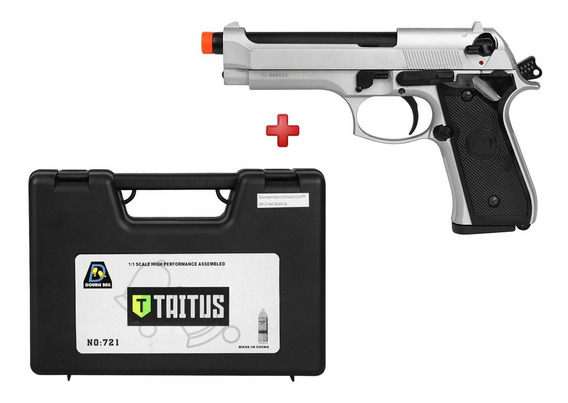 Pistola Airsoft Gbb Double Bell M92 726y Full Metal + Case