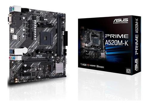 Motherboard Asus Prime A520m-k Amd Ryzen 3ra Gen Gamer M.2