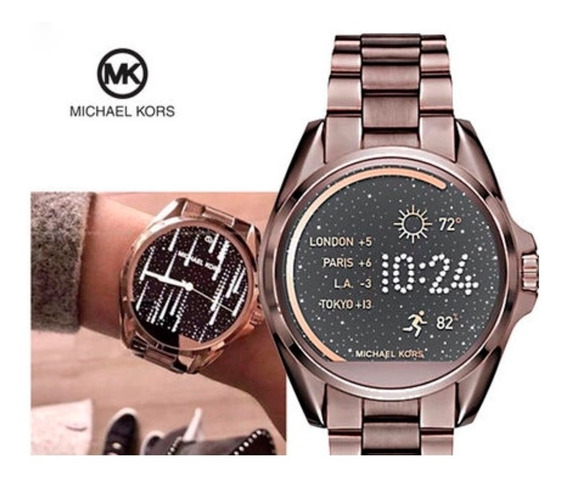 Relogio Michael Kors Mkt5007 Access Touch Digital Marrom