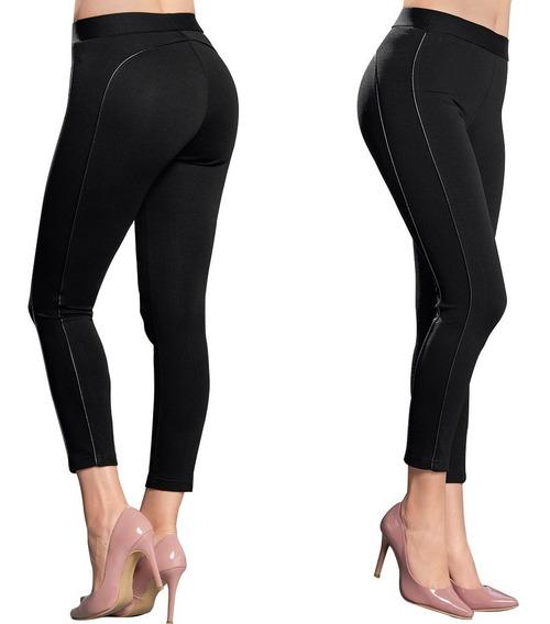 Leggings Dama Mujer Moda Formal Ajustado Negro Verano Comodo