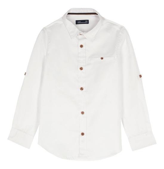 Camisa Manga Larga De Niño C&a (mod 1061074)