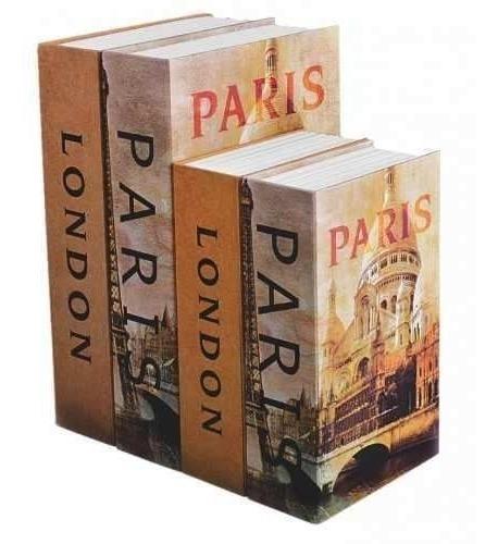 Caja Fuerte Seguridad Libro Paris 7 Pulgadas Silverline