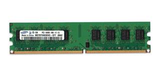 Memoria Ram Ddr2 2gb 800mhz Samsung - Intel Y Amd - Cuotas