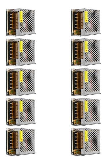 Fonte Chaveada Colmeia 12v 5a 60w Bivolt Kit 10 Unidades