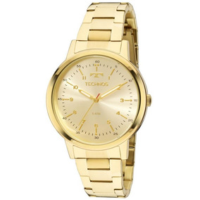 Relógio Dourado Technos Feminino Elegance Dress Mulher Luxo