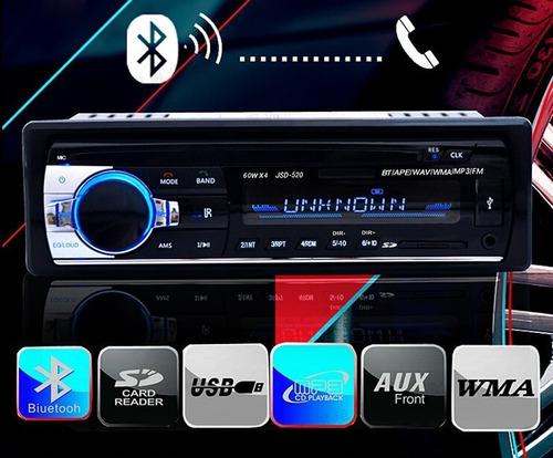 Imagem 1 de 8 de Estéreo Rádio  Carro Telefone Bluetooth Aux-in Mp3 Fm/usb/1