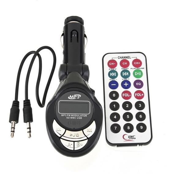 Transmissor Veicular Fm E Mp3 Com Entrada Usb / Sd Lcd