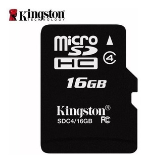 Cartão Micro Sd 16gb Kingston Novo 100% Original