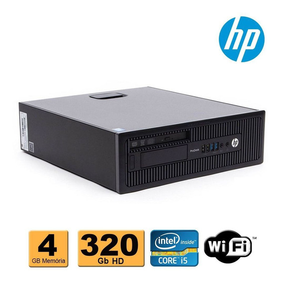 Cpu Pc Hp Prodesk 600 Slim Core I5 4ªg 4gb Ddr3 320gb Wifi