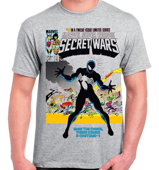 Playera Marvel Comics Secret Wars 8 Spiderman Simbionte $250