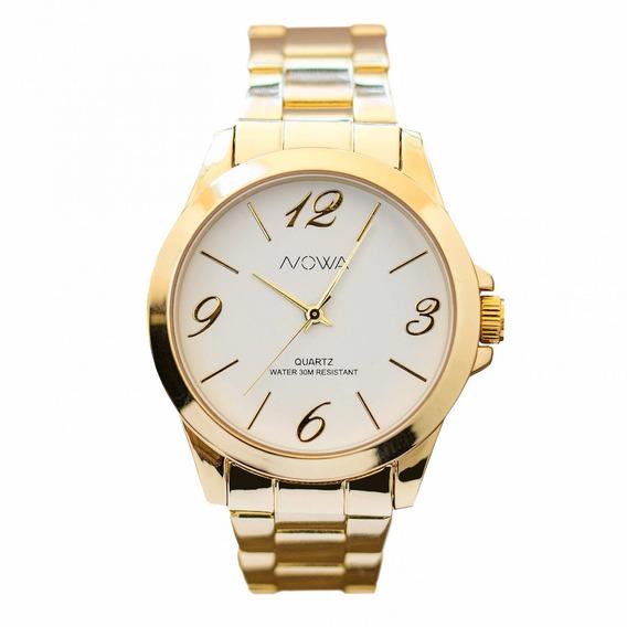 Relógio Nowa Dourado Feminino Nw1015k Original