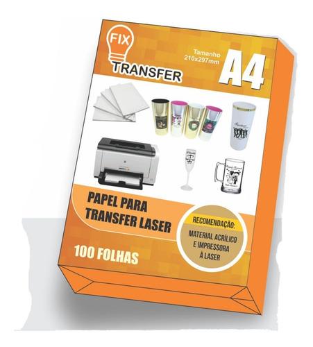 Papel Tranfer Laser 200 Folhas A4 Copo Direto Da Fábrica
