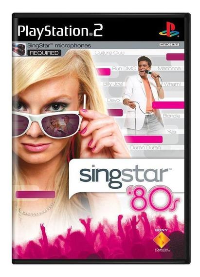 Singstar 80s Ps2 Mídia Física Pronta Entrega