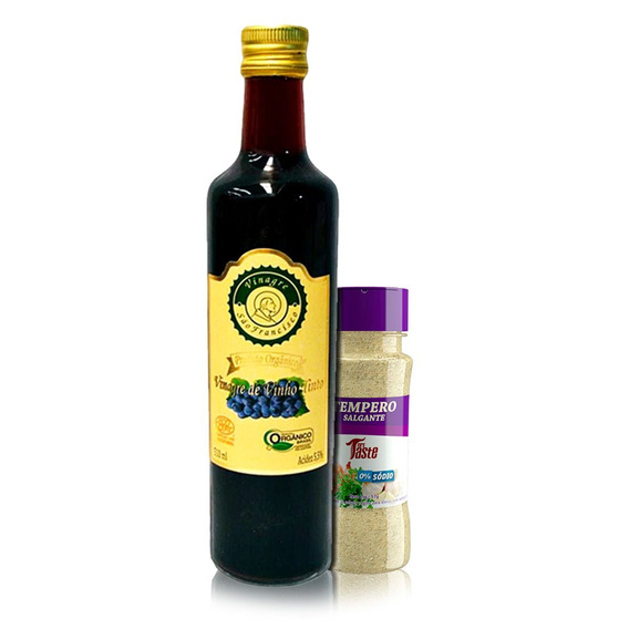 Vinagre Orgânico 500 Ml + Tempero Salgante Mrs Taste