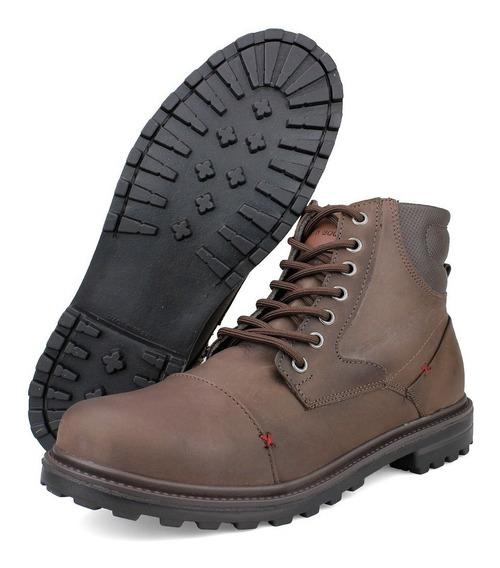 Bota Casual Masculina Em Couro Legítimo Resistente Way Boots