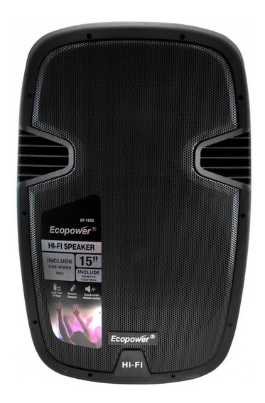 Caixa Karaokê Ecopower Ep-1930 15 250 Watts Rms Bluetooth