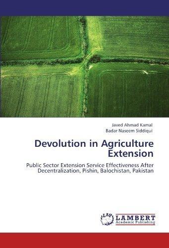 Devolucion En La Extension De La Agricultura Servicio Public