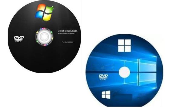 Cds Do Windows 7 E 10 + Drivers + Office 16 Tds Portugues