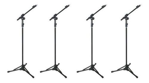 Kit 4 Pedestal Suporte Microfone Rmv Psu0090 Novo!