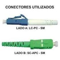 Cabo Óptico Lc/pc X Sc/apc 1,5mts / 8mts / 20mts