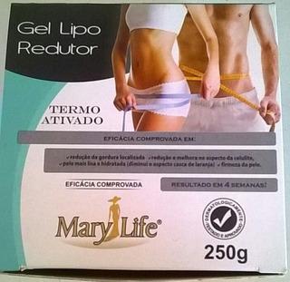 Kit 10 Unid Gel Lipo Redutor Mary Life 250g